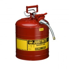 "Justrite 7250120 - 5 Gallon Type 2 AccuFlow Red Safety Gas Can 5/8"" Hose"