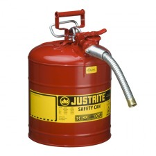 "Justrite 7250130 - 5 Gallon Type 2 AccuFlow Red Safety Gas Can 1"" Hose"