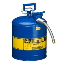 "Justrite 7250320 - 5 Gallon Type 2 AccuFlow Blue Safety Kerosene Can 5/8"" Hose"