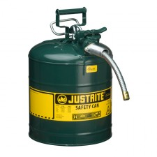 "Justrite 7250420 - 5 Gallon Type 2 AccuFlow Green Safety Oil Can 5/8"" Hose"