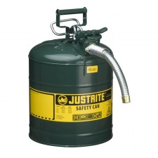 "Justrite 7250430 - 5 Gallon Type 2 AccuFlow Green Safety Oil Can 1"" Hose"
