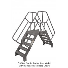 Cotterman 50 Degree Heavy Duty Crossover Bridges - Powder Coated Steel - Diamond Plate Treads