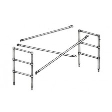 "Genex 4'H x 6'L Extension Set for 29""W Fiberglass Scaffold"
