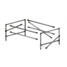 "Genex 3' 7""H x 9'L Guard Rail Set for 54""W Fiberglass Scaffold"
