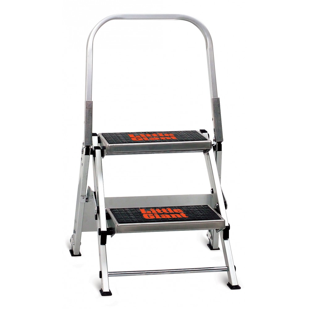 Little Giant Safety Step Aluminum 2 Step Ladder