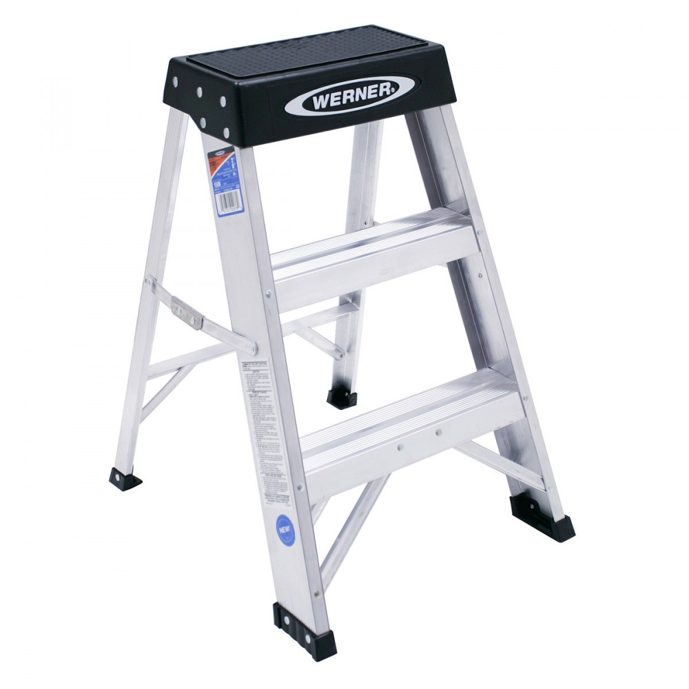 Werner 150b 300lb Rated Aluminum Step Stool