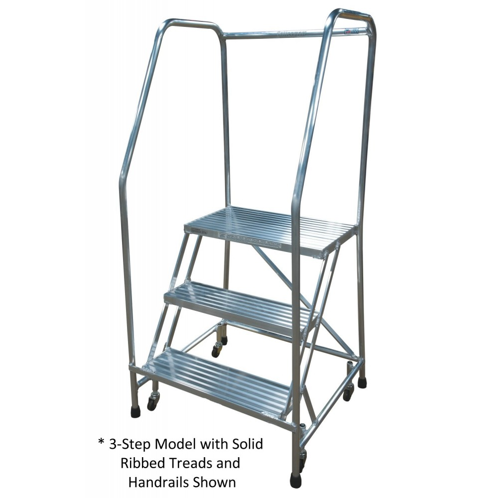 Cotterman 2 Step Aluminum Series A Rolling Ladder With 24