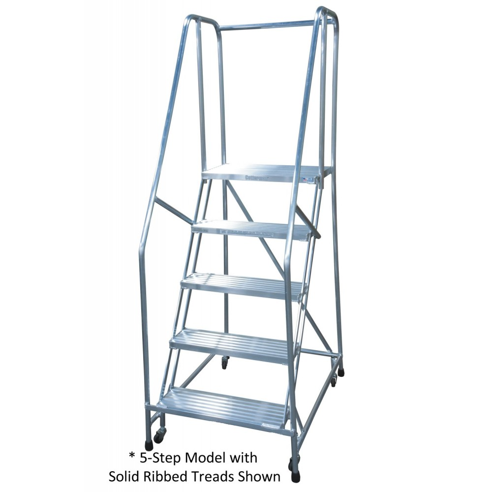 Cotterman 5 Step Aluminum Series A Rolling Ladder With 16