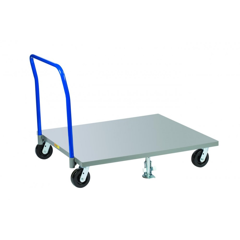 Little Giant Pds4848 6ph2fl Steel Solid Deck Pallet Dolly