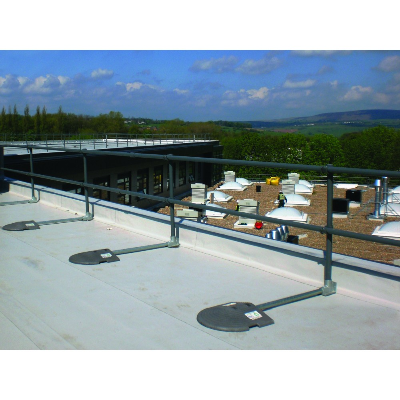 Kee Safety KGPVC10U Galvanized Steel Kee Guard Roof Railing System   10u0027 Kit