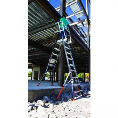 Little Giant Aerial Safety Cage Ladder Industrial Products
