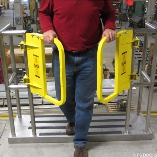 Ps Doors Paired Galvanized Ladder Safety Gates